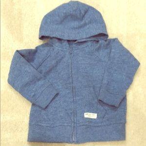 Super soft blue baby gap zip hoodie sweatshirt